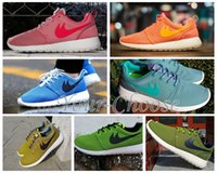 Wholesale New Color Roshe Run Shoe Men and Women running shoes Fashion Vintage Athletic Casual Sports Shoes Pink Orange Blue Green Mesh