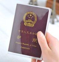 Wholesale High Quality Transparent Scrub Passport Cover Waterproof Document Sets Passport Bag Case Passport Holder Protector KB190