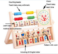 Wholesale Education Toys Wood Block Baby Toys Multifunction Flap Calculation Shelf Toddler Learning Toys for Kids Children gift