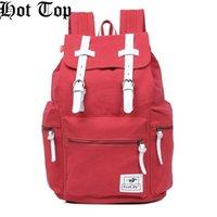 venda por atacado military canvas bag-HOTTOP 100% Novo Pro Canvas Backpack clássico Outdoor Canvas Masculino Ombro-Bag Casual Outdoor Travel Bag Caminhadas Militar