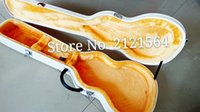 Wholesale guitars leather box hard case Top quality New style white color Guitar Accessories