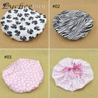Wholesale Beauty Care New Women Waterproof Elastic Shower Bathing Cap Hair Cap Colors