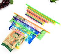 Wholesale 8PCS Set Revolutionary Plastic Slide and Store Bag Sealer Keeping Fresh Bag Sealing Bar Rod Stick Strip Household Item