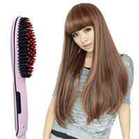 plastic hair comb - 2015 new Ceramic Straight Hair Comb Intelligent Icd Screen Electric Straight Hair Emperorship Automatic Stick Straight hair styling tool