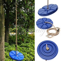 Wholesale Popular Durable PVC Swing Seat Swingset rotating Play DISC SWING Seat Tree Swing Disk Blue Garden Kids Children Toy order lt no track