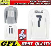 football shirt - Real Madrid long sleeve Jerseys BARCELONAES Long sleeve jersey RONALDO SUAREZ MESSI NEYMAR JR Shirt Uniform kits football jerseys