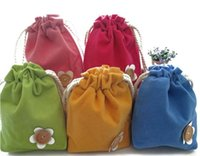 beautiful flower drawings - 5Color Beautiful Flowers Storage Bags Size Fabric Draw string Storage Bag Housekeeping Home Organization March Style