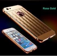 acrylic mirror panel - Samsung Galaxy S5 S6 Edge Plus Note Apple Iphone S S Plus Mirror Clear Back Cover Luxury Hybrid Acrylic Panel Aluminum Metal Hard Case