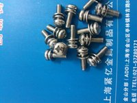 Wholesale For Galvanized steel pan head trio at th flat elastic pad combination screw M5