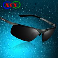 Resin Lenses aluminum eyeglasses - Aluminum Magnesium New Men Brand Designer Sports Driving Polarized Sunglasses Glasses Sun Goggles Eyeglasses Color film