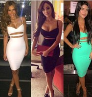 Cheap 2015 retail New Summer Sexy Women Ladies Bandage Bodycon Clubwear Evening Party Cocktail Short Dress