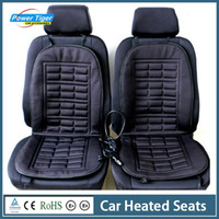 Wholesale Hot Sale Pair Car Seat Cover Winter Warmer Car Heated Seats Cushion Hot Cover Double Pad Electric Heat Supplies Black Gray