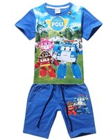 sport clothing wholesale - 2015 color round neck short sleeve shorts boys sport clothes years old children s beach clothes sets C2