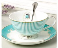 ceramic cup and saucer - 2015 Hot Sale Sets Of English Bone China Tea Coffee Cup And Saucer Suit European And American Style For Sale