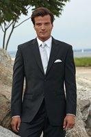 Wholesale 79 Charcoal Notch Two Buttons Front Custom Dress Suits For Men