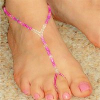 bead anklet designs - New Brand Design Women Anklets Summer Style Beach Beads Elastic Foot Bracelets FC039