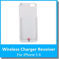 Cheap 2015 Qi Wireless Charging Receiver Mini Charger Pad Case Jacket for iPhone 5s 5 Protective Case Shell Free shipping
