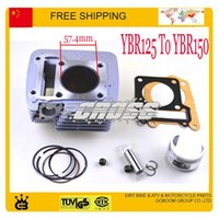 Wholesale Modified YBR125 To YBR150 cylinder assy block assembly mm piston ring gasket cc motorcycle accessories order lt no trac