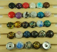 Wholesale new mix High quality Alloy Chunk Snap Button charm fit NOOSA bracelet diy charm Jewelry Accessories Peace D Shell series mm