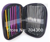 crochet hooks - HOT Stitches Knitting Craft Case Aluminum Crochet Hooks Needles Knit Weave