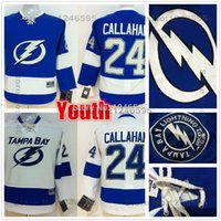 bay boy - Factory Outlet Kids Ryan Callahan Jersey Youth Tampa Bay Lightning Jersey Home Blue Road White Boys Ryan Callahan Hockey Jerseys Cheap