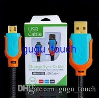 steel braided cable - 1 M FT Steel Mesh Braided Micro USB Cable Nylon pin Sync Charger Cord Cables With Retail Box for Samsung Galaxy S3 S4 S5 note3 pc