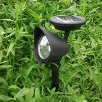 auto neon lighting - 1pc New LED Solar Powered Spotlight Outdoor Garden Landscape Lawn Yard Path Spot decor Auto On Light Lamp garden decoration