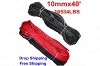 Wholesale 10mmx40 lbs weave UHMWPE winch rope Synthetic fiber Cord for ATV UTV SUV X4 WD Off road