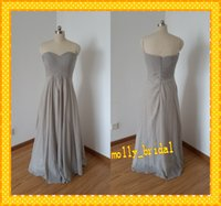 affordable photos - Affordable Long Bridesmaids Dresses Chiffon Cheap Full Length Sweetheart Sexy Open Back Pleats Draped Real Photo Wedding Party Gowns