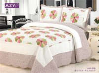 Wholesale Full Size Cotton Quilted Blanket Bed Sheet Bed Cover colors Design piece