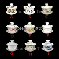 Wholesale ml Chinese Ceramic Gaiwan Cup Porcelain Kun Fu Tea Set Fine Bone China Drinkware Tea Cups And Saucers Choices