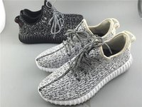 Wholesale Fashion Kanye West Yeezy Boost Classic Gray Black Men s Sneaker Shoes With Box