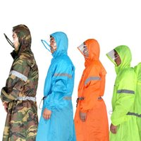 Wholesale BlueField Rain Wearing Equipment Raincoat Cover One piecePoncho Rain Cape Outdoor Hiking Camping Unisex Rain gear Backpack