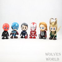 Wholesale Marvel Captain American The Avengers Super Heroes Mini Movie Action Figures Cartoon Toys Kids Birthday Gift