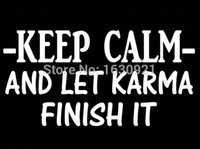 beer decals - Exterior Accessories Car Stickers KEEP CALM KARMA FUNNY DECAL STICKER CAR TRUCK SUV laptop WALL BEER BAR SALT
