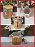 Wholesale Environmental bamboo made convenient seal pot household candy jar storage pot