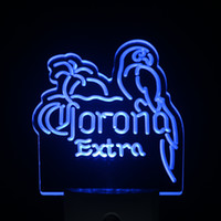 Wholesale ws0216 Corona Extra Parrot Beer Day Night Sensor Led Night Light Sign