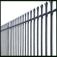 Wholesale PVC Coated Steel Palisade Fence Security Electroplated Or Hot dipped Galvanized Surface Treatment W Types Used For Decoration