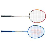 Wholesale 1Pcs Badminton Racquet Carbon Fiber Aluminum Alloy Training Badminton Racket with Carry Bag Durable Lightweight Badminton Set
