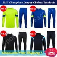 football set - Chelsea sportswear Champions League football Tracksuit winter long sleeved training wear HAZARD tracksuits Sets