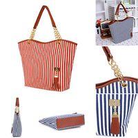 best acrylics canvas - Best Sale Chain Canvas Faux Leather Casual Messenger Bags For Women Fashion Striped Zipper Shoulder Bag