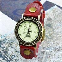 antique brass clock - 2016 Hot Female Vine Retro Watch Quartz Watch Multicolor Belt Fashion Women Casual Analog Clock Watch