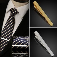 Wholesale fashion Hottest Men Silver Gold Metal Simple Practical Plain Necktie Tie Clip Bar Clasp men clothing accessories color