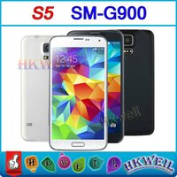Cheap Original Size 1:1 S5 SM-G900 I9600 Android4.4 Kitkat Phones With 5.1Inch Screen GSM Unlocked Dual Core MTK6572 (Quad Core MTK6589)