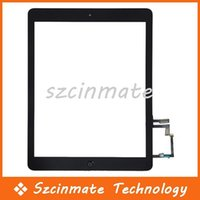 Wholesale For iPad air Touch Screen Glass Digitizer Assembly With Home Button Adhesive Glue Sticker Replacement Repair Part Black White