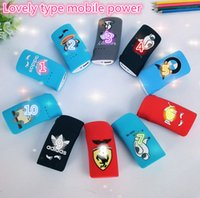Cheap Wholesale -2015 new Universal Mobile Power 5600 mA mobile power charging treasure lovely gift DHL free shipping A42