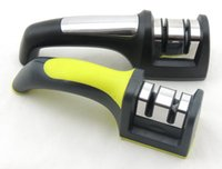 Wholesale good price two stages professional knife sharpeners household easy and simple type knife sharpeners by EXW price