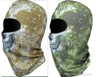 Printed Plain Knit Rattlesnake Mandrake Tactical Airsoft Hunting Wargame Breathing Dustproof Face Balaclava Mask Motorcycle Skiing Cycling Full Hood