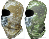 al por mayor prueba de polvo animal-Serpiente de cascabel Mandrake táctico de Airsoft Caza Wargame respiración a prueba de polvo facial de la máscara de la motocicleta del pasamontañas Esquí de un ciclo completo de la capilla