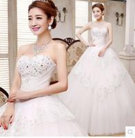 beautiful flowers list - New Listing hot sale fashion luxury diamond high grade lace gauze sequins custom beautiful princess lace Ball Gown Wedding Dress